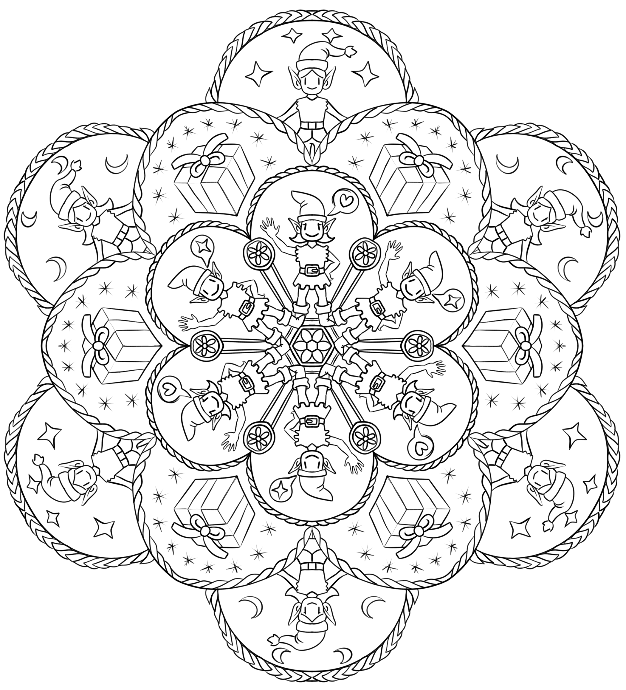 To Stress By Coloring Christmas Mandalas Universal Health Care