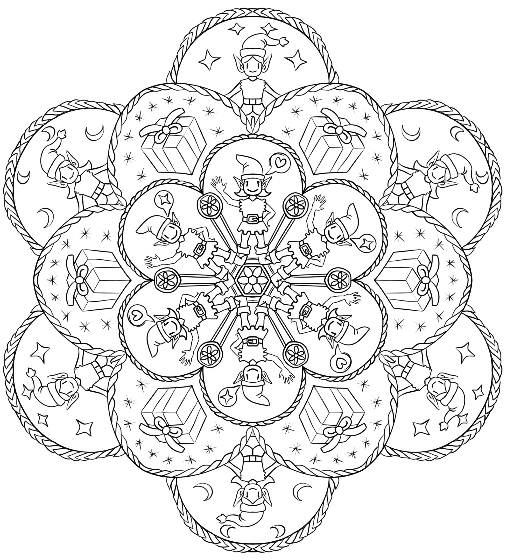 Say Goodbye To Stress By Coloring Christmas Mandalas